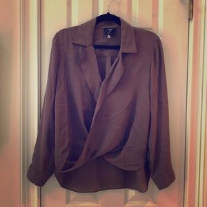 100% silk brown blouse from Barneys New York